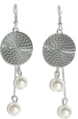 Royal Touch Silver Coin Brass Chandelier Earring