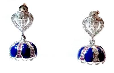 Vummidi Bangaru Chetty & Sons Dazzling Jhumkhas Sterling Silver Jhumki Earring