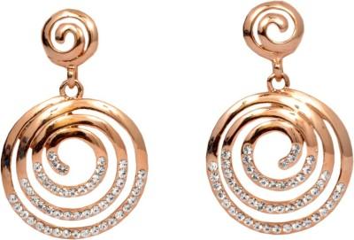 Royal Golden Sparkling Alloy Dangle Earring
