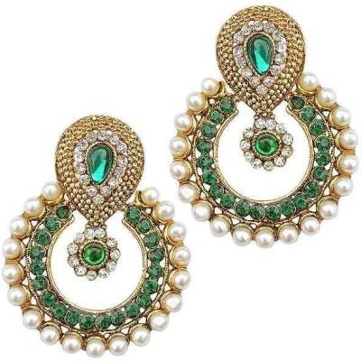 Jewels Guru Look a LIKE Zircon Alloy Chandelier Earring