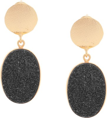 Orolush Super Classy Black Sugar Druzy stone Copper Drop Earring