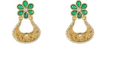 Art Nouveau Modern Style Antique Design Brass Chandelier Earring