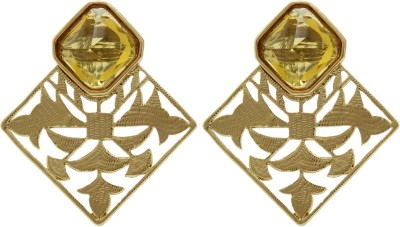 Ishaani Love Forever Crystal Brass Drop Earring