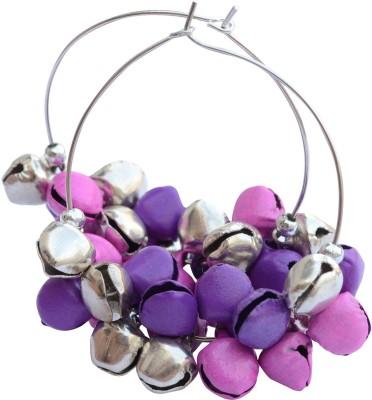 Foppish Mart bells Beads Alloy Hoop Earring