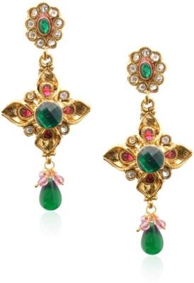 Royal Bling Fanciable Emerald Stone Metal Drop Earring