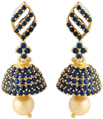 Voylla Artificial Classic Embellished Crystal Brass Jhumki Earring at flipkart