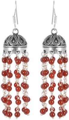 VelvetCase Onyx Jhumki Earring Onyx Silver Stud Earring