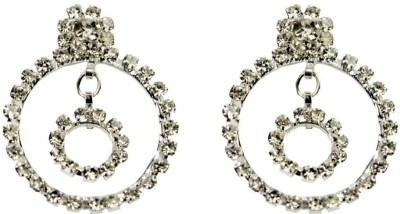Percias Double Ring Droplet Brass Drop Earring