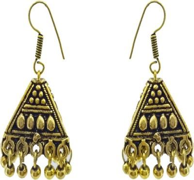 Gurjari TRIZUMKHI Brass Jhumki Earring