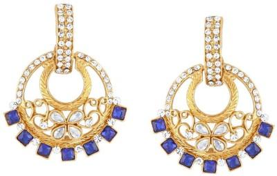 Kashvi Designer Cubic Zirconia Brass Dangle Earring