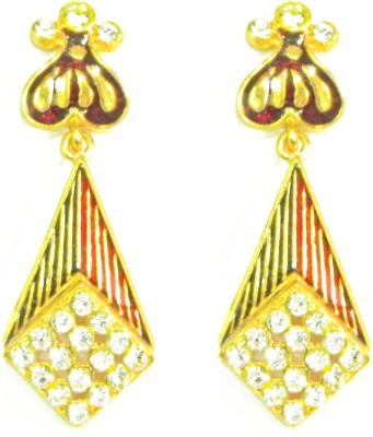 Glamche Meenakari Cubic Zirconia Alloy Drop Earring