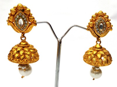 Womaniya pearl leaf beauty Alloy Jhumki Earring