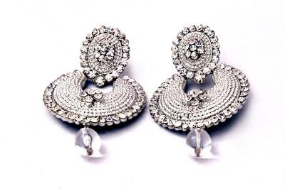 Fashionera Silver Beauty Metal Chandbali Earring