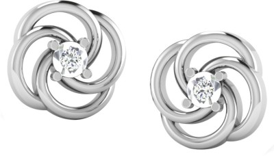 His & Her His & Her Diamond Silver Stud Earring