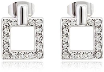 Ouxi Swarovski Elements Sparkling Square Crystal Zinc Stud Earring