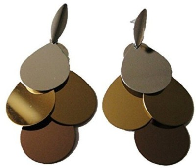 Sans India Designer Fashion Metallic Dangler/Drop for Girls Women Metal Drop Earring