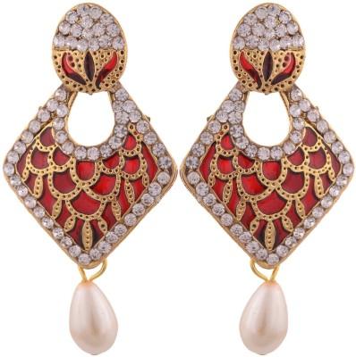 Grandiose Gold Plated Meenakari and Diamond Copper Drop Earring