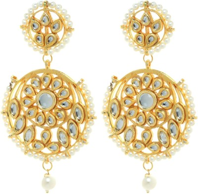 Gliteri round heavy kundan and beads Alloy Dangle Earring