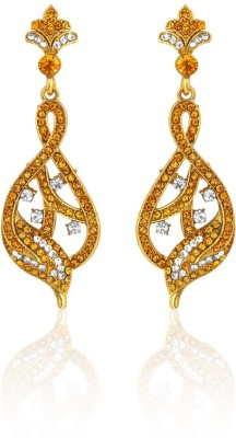 Camy Royal Ethnic Cubic Zirconia Alloy, Brass Drop Earring