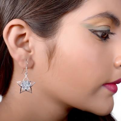 Factorywala Fancy Shape Silver Stud Earring
