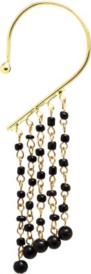 Fashion Era Sparkling Black Mother of Pearl Cuff Earring