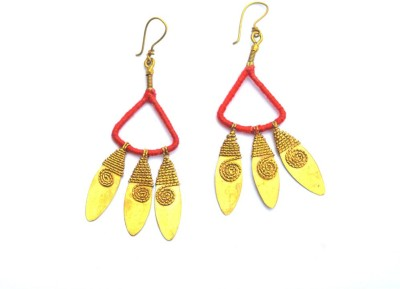 Art Godaam Dhokra Tribal 0007 Brass Dangle Earring