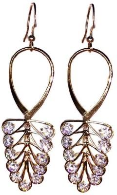 000 Fashions Golden Leaf Crystal Hoop Earrings Crystal Alloy Hoop Earring
