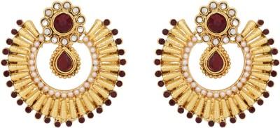 Tribal Zone JP4742 Brass Chandbali Earring