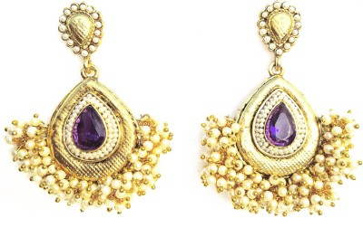 The Hub Traditional And Elegant Golden Chandbali Alloy Chandbali Earring