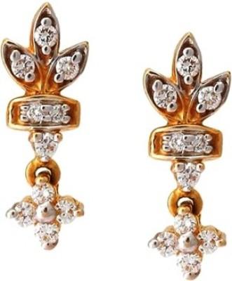Gunjan Diamond Sunshine Diamond Gold Drop Earring