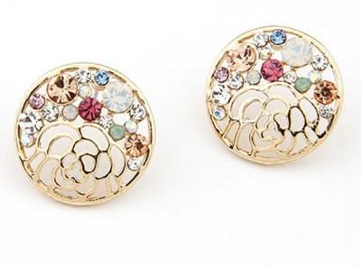Cilver Fashion Multicolour Trendy Circle Alloy Stud Earring