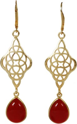 Studio B40 Moroccan drop earring with semiprecious druzy stones Brass Dangle Earring