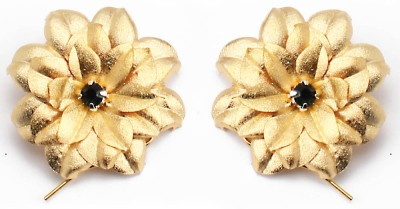 Aarya 24kt Gold Foil Flower Silicone Stud Earring