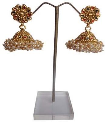 Shiny Pearls jhumka Beads Alloy Jhumki Earring