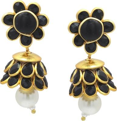 Ranvijay Trendy Black Beads Alloy Drop Earring
