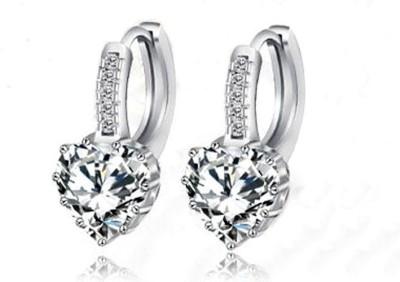 Kundaan Love Sparkle Zircon, Crystal Alloy Hoop Earring
