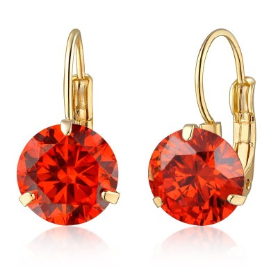 Fashion Berg Accessories Red Ballie Alloy Hoop Earring