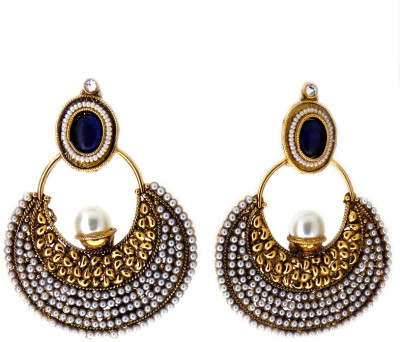 Aabhushan Sapphire, Pearl Alloy Drop Earring