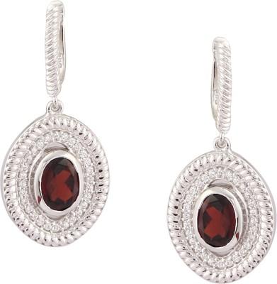 RR FOREVER Gemstone Garnet Silver Huggie Earring