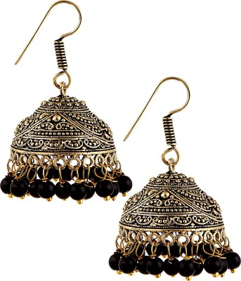 Pinnie Ethnica Sultana Antique Oxi Jhumka German Silver, Brass Jhumki Earring