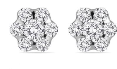 Voylla Swarovski Crystal Sterling Silver Stud Earring