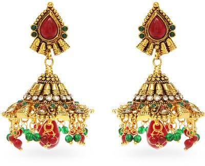 Aamoye Polki Jhumki in High Gold Finish Alloy Jhumki Earring