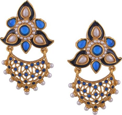 Young & Forever Designer Floral Copper Chandbali Earring