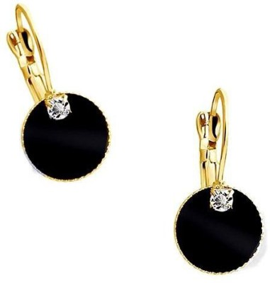 Roma Brothers Black Round1 Cubic Zirconia Alloy, Acrylic Clip-on Earring