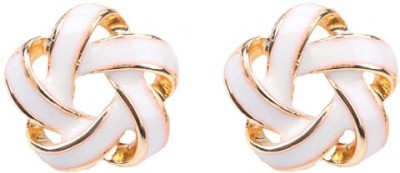 Young & Forever Intertwining Alloy, Enamel Stud Earring