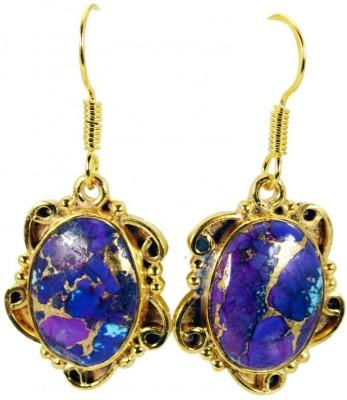 Riyo Beckoning Turquoise Turquoise Copper Dangle Earring