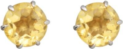 YugshaJewels Elegant YJE-1685 Citrine Sterling Silver Stud Earring