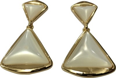 Gliteri Triangle Moon Stone Alloy Drop Earring