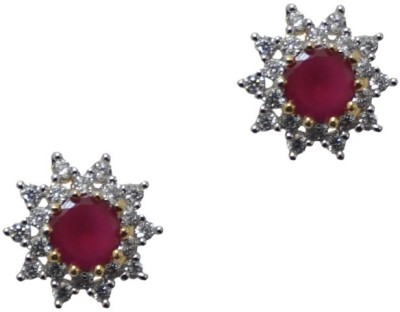 Sheetal Jewellery JCHT40R_main Cubic Zirconia Brass, Alloy Stud Earring