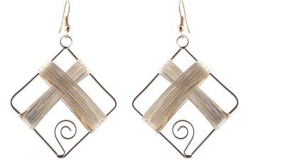 Avrom Gold Metal Brass, Copper Drop Earring